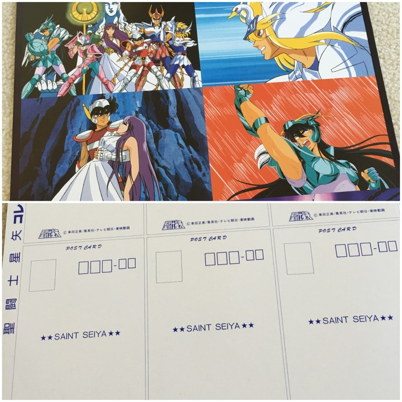 Saint Seiya postcards